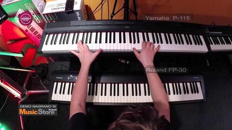 Roland FP-30 vs Yamaha P-115 - Grand Piano sounds comparison [E-MUZYK.pl]