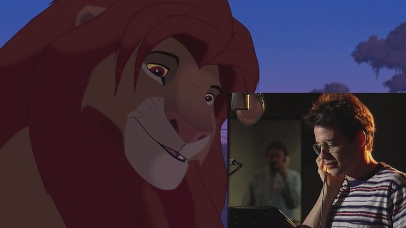 The Lion King (1994) Voice Actors Behind the Scenes. Studio Recording Sessions