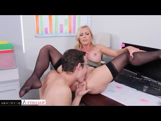 Nikki Benz & Justin Hunt [ Blondes &  In the office &  With talk / Skirt, Shaved, On a rider, Beautiful lingerie, Cumshot on