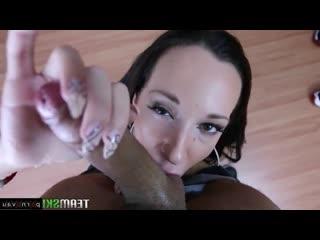 Jada stevens [ assholes &  brunettes &  close up &  casting / cumshot in mouth , swallow cum , licking eggs ,  , deep blowjob]