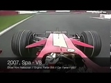 F1 Engine Sound Through The Years Ferrari V12 V10 V8 V6