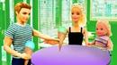 Кен привел Барби и Штеффи в кафе - Мультики для девочек. Играем в куклы Барби