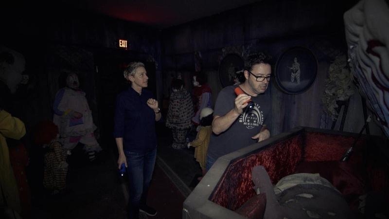 Ellen Andy Visit the 'IT' Haunted House