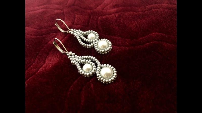 Mehndi Design Inspired Beaded Earrings || How to make Beaded Earrings || Pearl Earrings