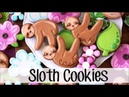 How To Make Decorated Sloth Sugar Cookies