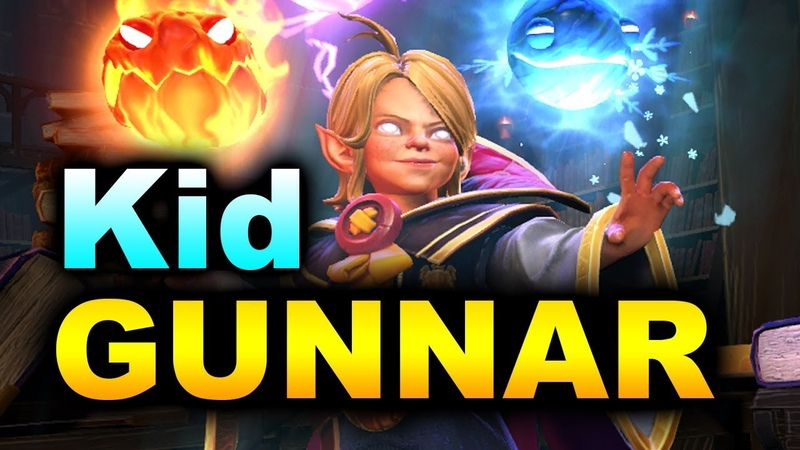 Kid INVOKER First GAME Ever by GUNNAR Immortal MMR Dota 2