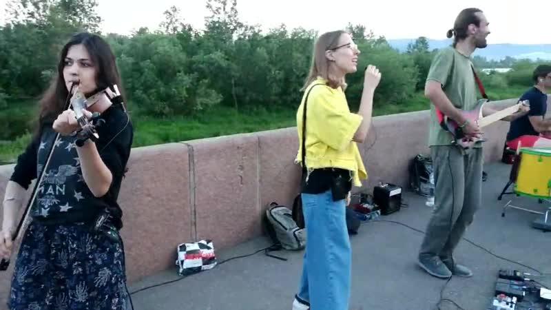 Одним субботним вечером | Уличные артисты | Красноярск