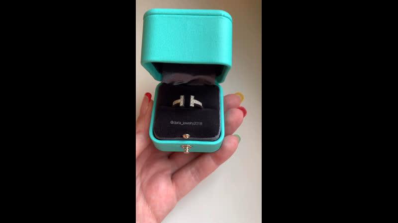 Новое золотое кольцо Tiffany