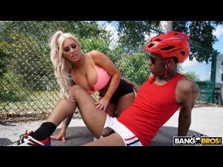 Brandi bae having a good time with a huge cock (big ass, big tits, blonde, blowjob, interracial)