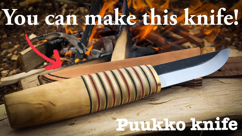How to make knife from a KIT Using hand tools only
