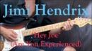 Jimi Hendrix - Hey Joe (Part 1) - Blues/Rock Guitar Lesson (w/Tabs)