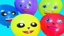 Воздушные Шары Учим цвета с шариками Песенка про шарики с глазками Мультик про шарики Лопаем шарики