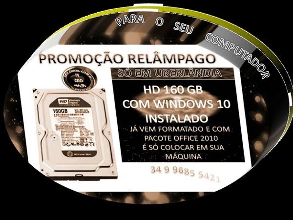 HD FORMATADO COM WINDOWS 10 PONTO PARA PC SEGUIDORES DE CRISTO JESUS