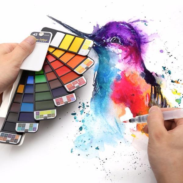 Компактный набор акварельных красок -