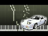 Initial D - Running in the 90s (Piano Tutorial Synthesia)