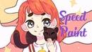 Девочка и кошка - Спидпейнт | Girl and cat - Speedpaint