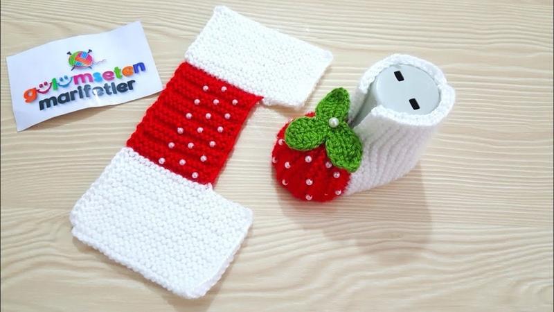 Çilek bebek patik yapımı iki şişle karpuz patik yapımı Bebek patik modelleri Baby boties knitting