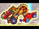 1-6 В конце Каток Новый босс Хищных машинок 1 - мультик про красную машинку Битли Car Eats Car