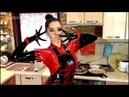 Latex Mistress at home kitchen