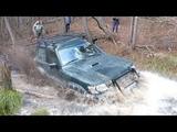 Off road 4x4 NISSAN PATROL Y61 в ручье УАЗ ПАТРИОТ на подстраховке