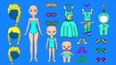 PAPER DOLLS MOTHER DAUGHTERS CLOTHES SHOES ACCESSORIES FOR GIRLS