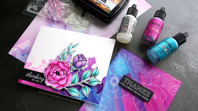Alcohol Pearl Inks the May 2019 Card Kit from Simon Says Stamp