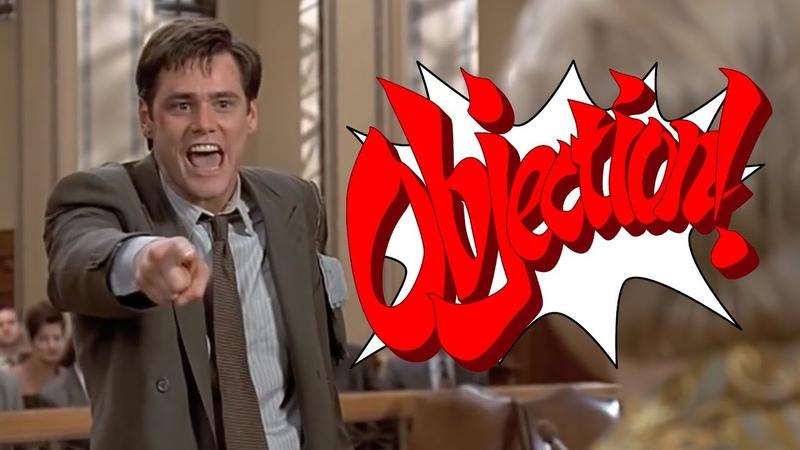 Jim Carrey Ace Attorney Phoenix Wright vs Liar Liar