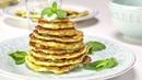 Сырные оладьи из кабачков с соусом дзадзики. Греческая кухня. Рецепт от Всегда Вкусно!