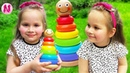 Nika Play and Learn Colors with Stacking Rings Finger Family Colors Songs for Children
