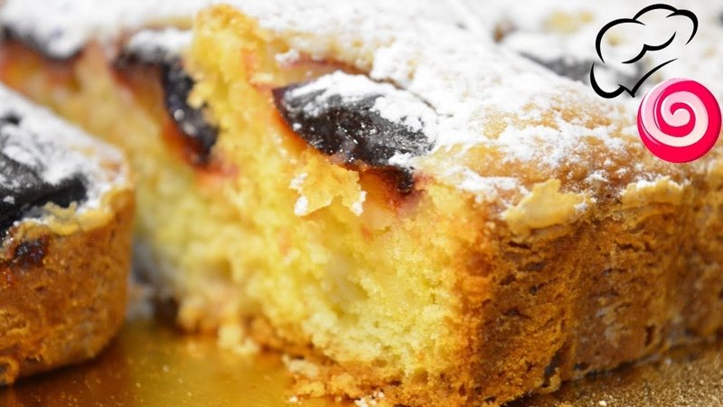 Все дело в бесподобном пудинговом тесте Быстрый пирог со сливами
