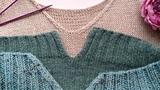 Вязание. Обработка края разрезов и горловины в изделиях.