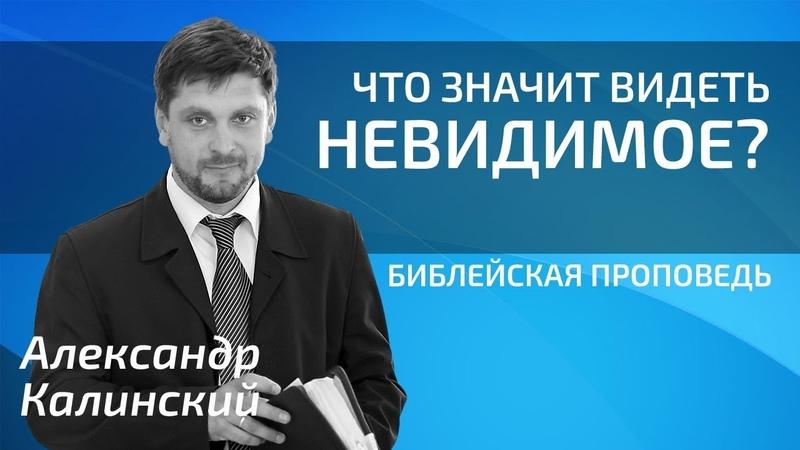 Александр Калинский - Что значит видеть невидимое?