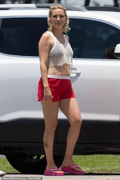 Кейт Хадсон на съемках Даррен КрисШейлин Вудли
