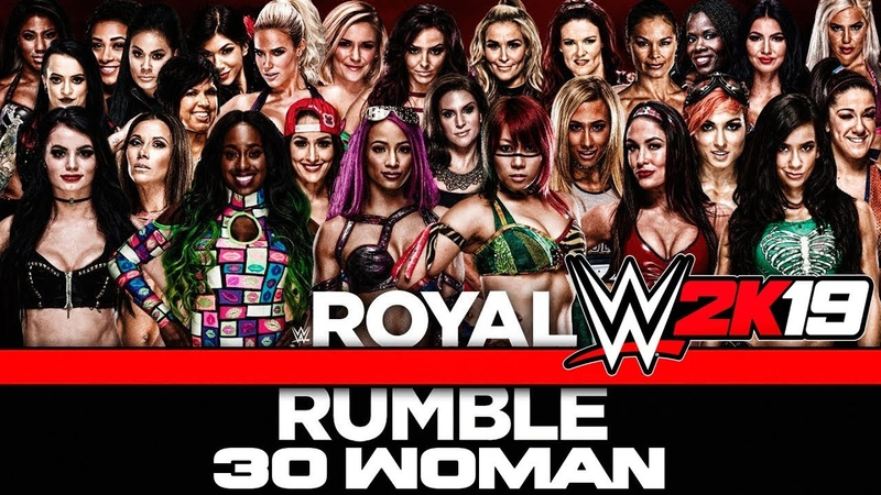 WWE 2K19 - ROYAL RUMBLE 30 WOMAN - 30 Девчонок (Русская озвучка)