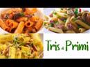 TRIS DI PRIMI PIATTI VELOCI Pasta alle Melanzane Salsiccia e Piselli Speck 3 вкусных рецепта с пастой