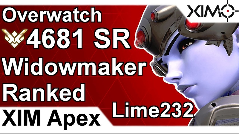 XIM APEX - Overwatch 4681 SR Ranked Widow Gameplay by Lime232 (PS4)