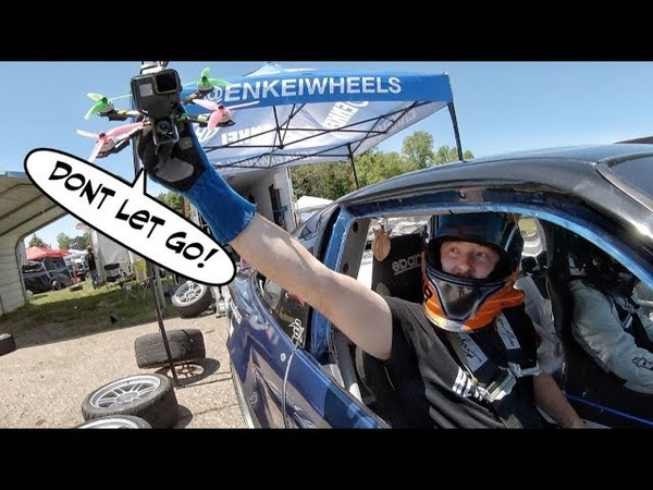 Throw My Drone Out of this Drift Car's Window   Seamless In CAR Drift Chase   FPV