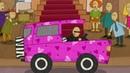 Dessin animé éducatif. Mini voitures pour enfants. Agence de location