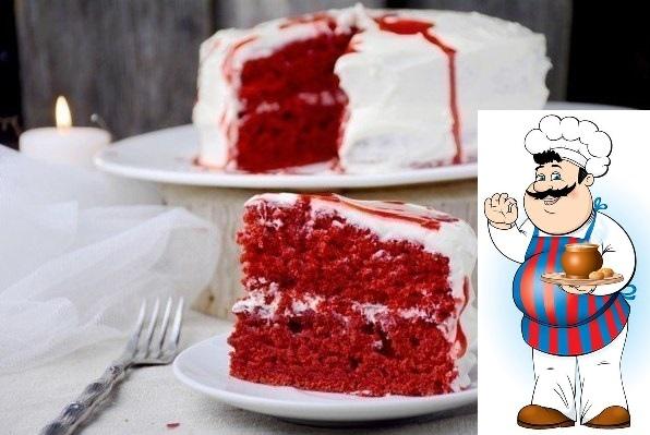 """Страшно красивый десерт """"Бархатный торт""""."""