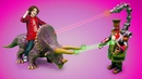 Динозавры Коллекта (Collecta) и ТОБОТЫ! Видео для детей: динозавры и тоботы VS Стим Смит!
