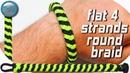 DIY a Flat 4 Strand Round Braid Paracord Bracelet World Of Paracord How to make Paracord Bracelet Tu