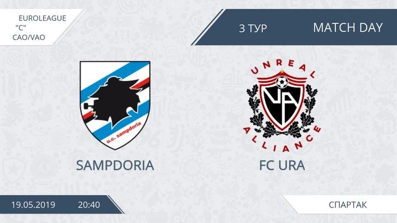 AFL19. Euroleague C. Division CAOVAO. Day 3. Sampdoria - FС URA