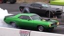 Old vs New Muscle Cars Drag Racing Demon Cuda Shelby ZL1 Hellcat Dodge Charger
