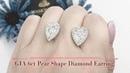 GIA 6 carat Pear Shape Diamond Earring