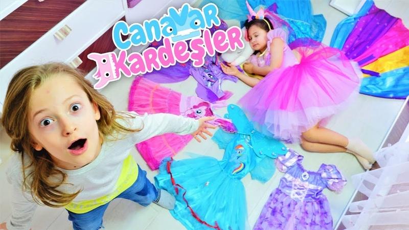 Çocuk oyun videosu. Canavar Kardeşler. Selin balo elbisesi için temizlik yapıyor