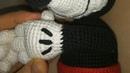 Вязаный Микки Маус крючком (урок 5, пальцы и руки)