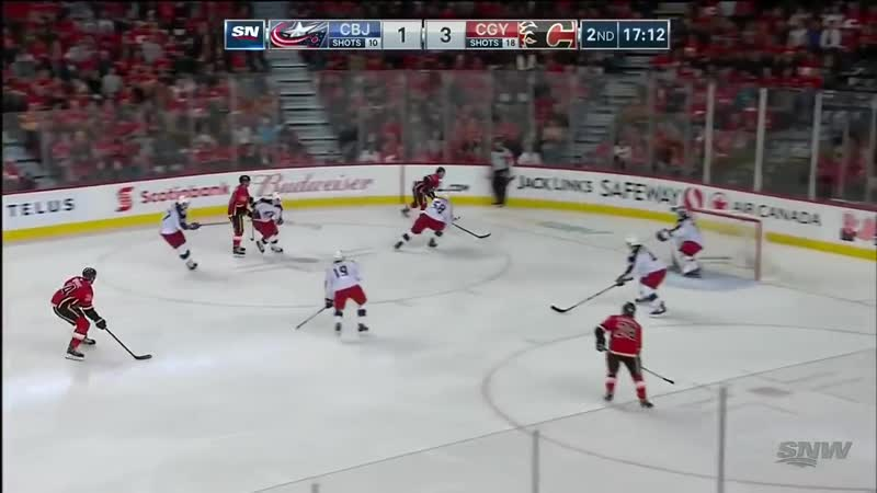 NHL Game Highlights _ Blue Jackets vs. Flames - March 19, 2019