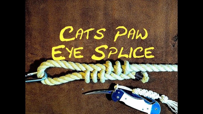 Cats Paw Eye Splice How to Tie (Makes a Decorative End to Dogs Lead) Decorative Eye Splice