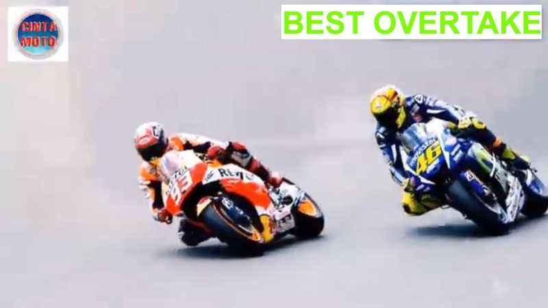 Valentino Rossi VR46 vs Marc Marquez MM93 Overtake Terbaik di MotoGP