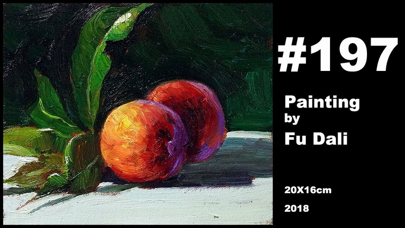 197 Still life Oil Painting by Fu Dali